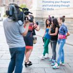 Cameraman filming students